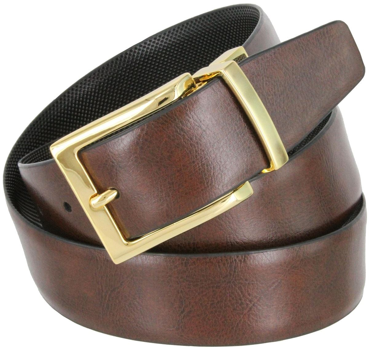 reversible black and brown mens dress belt 1 3 8 quot wide