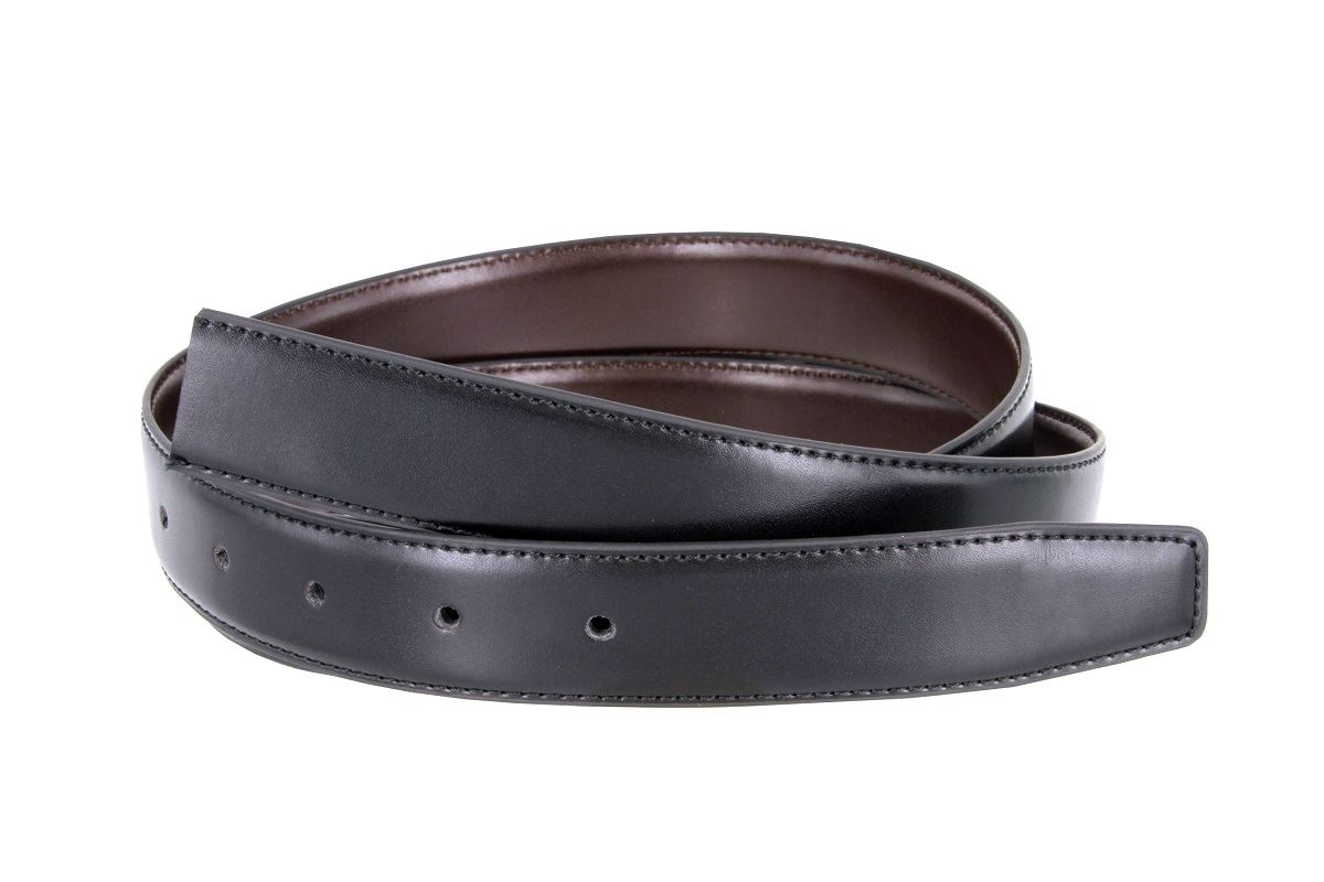 reversible dress belt genuine leather 1 1 8 quot wide