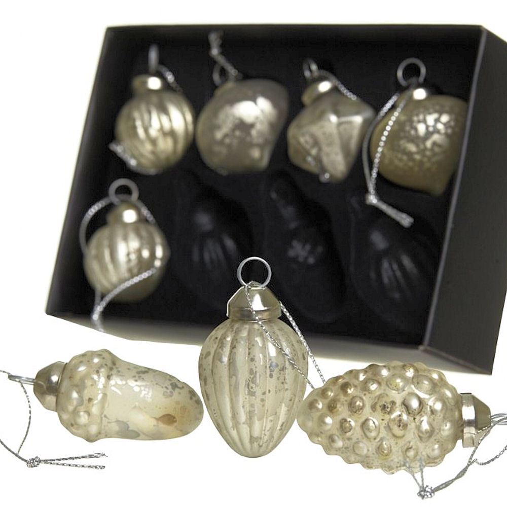 Luxury glass crystal christmas decorations sets hanging for Crystal baubles christmas