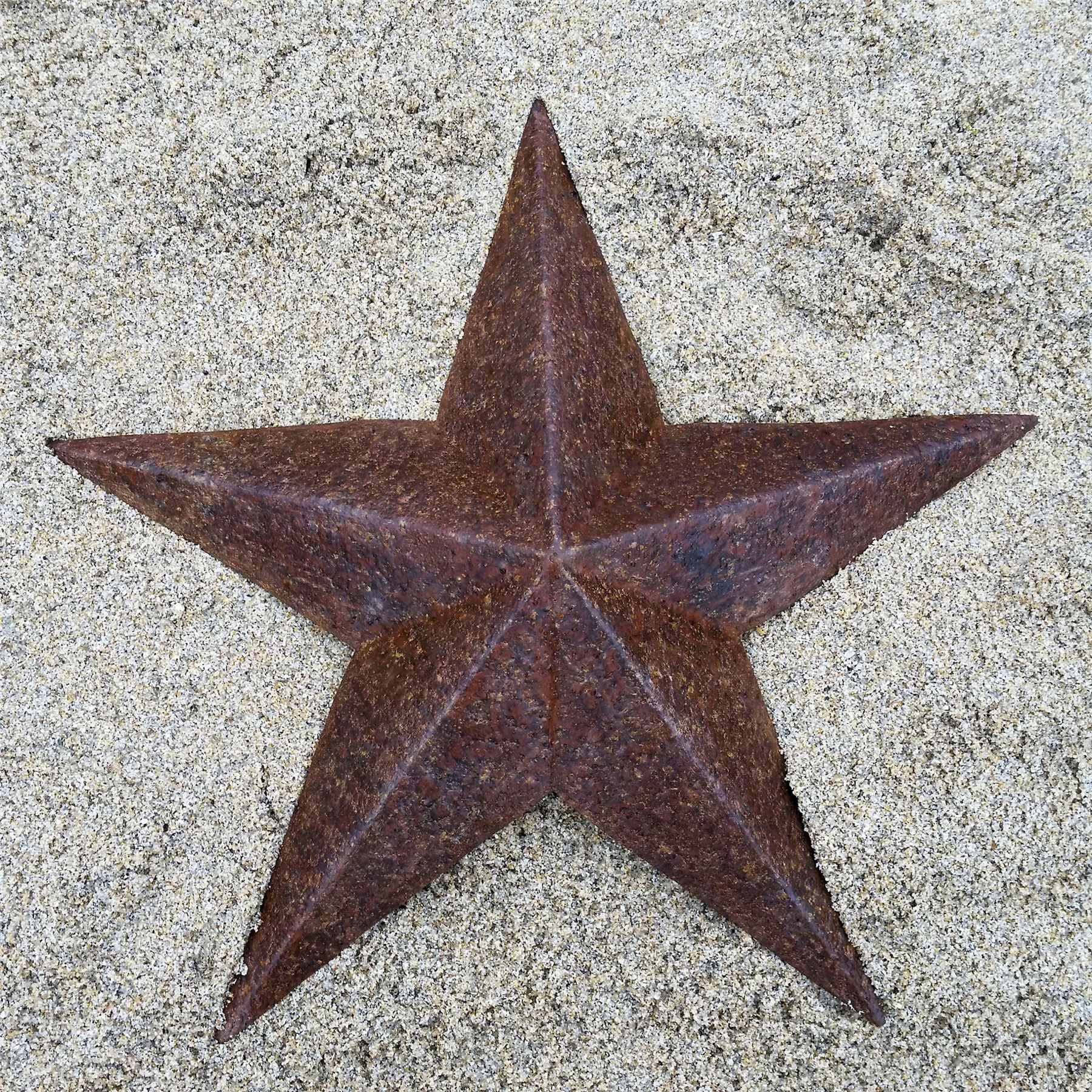LARGE RUST METAL STAR WALL PLAQUE HANGING ART SCULPTURE
