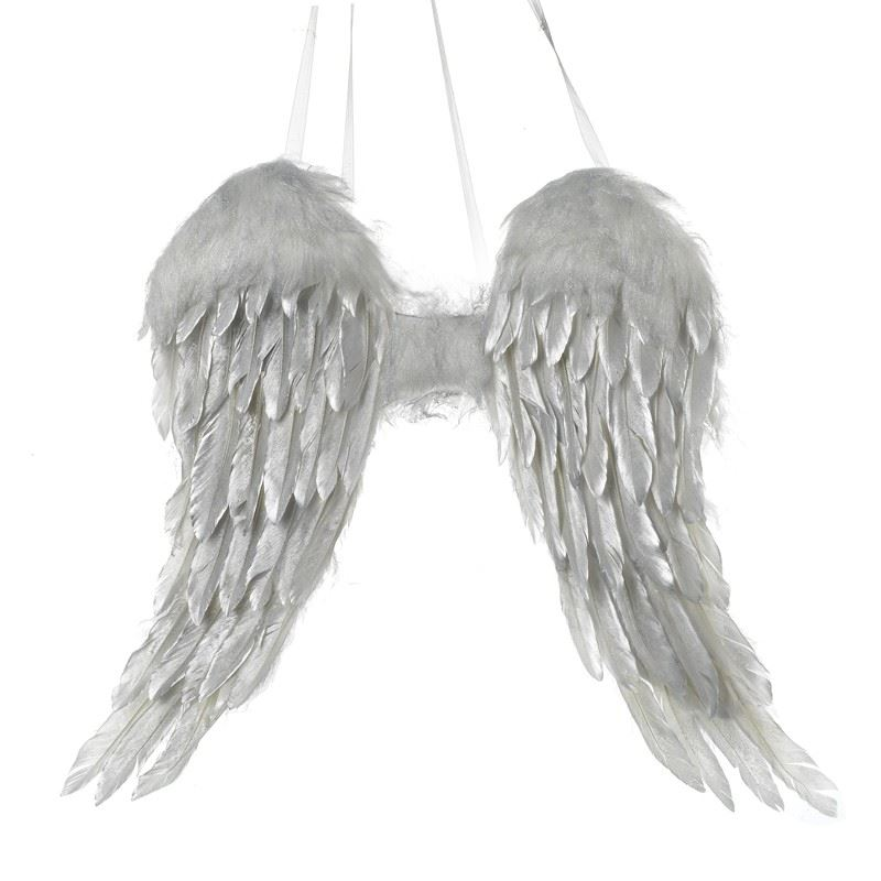 Feather Angel Wings Wall Decor : Luxury wow silver feather wings wall door hanging angels