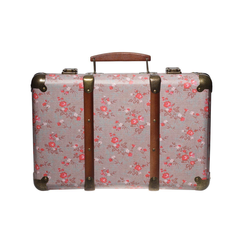 vintage large storage suitcase floral trunk bedroom box