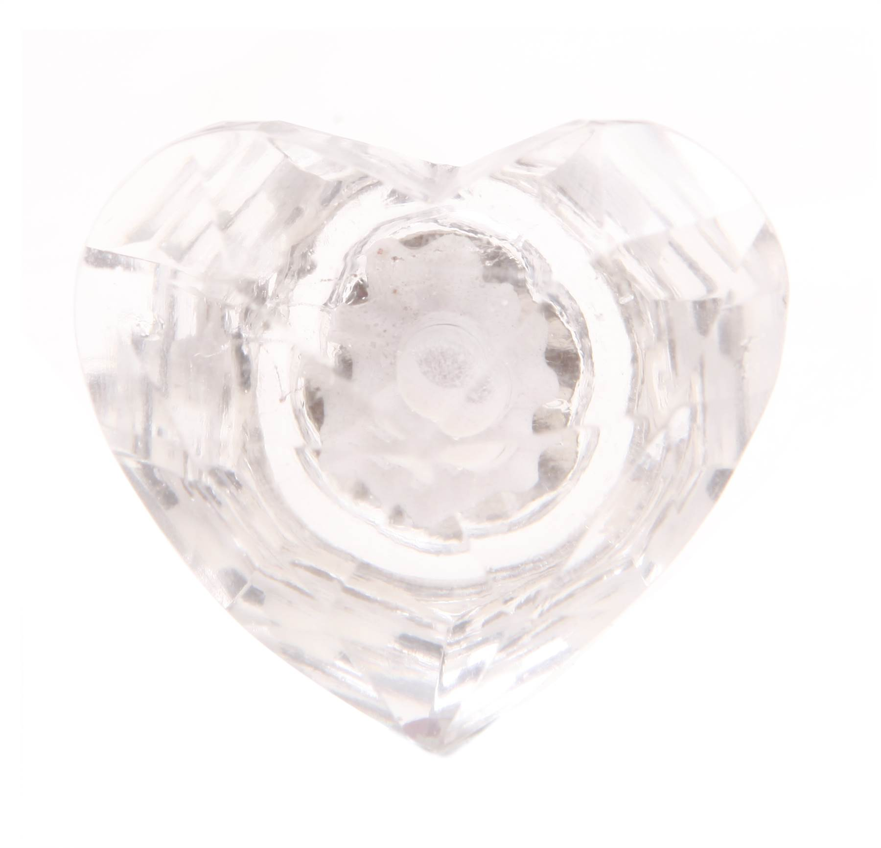 Vintage cut glass heart door knobs stunning furniture drawer pulls handles ebay Glass furniture pulls