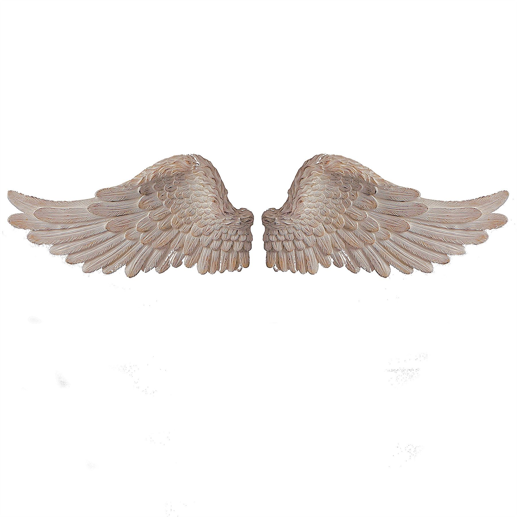 Large Wall Art Wings Sculpture Feature Angel Roman White