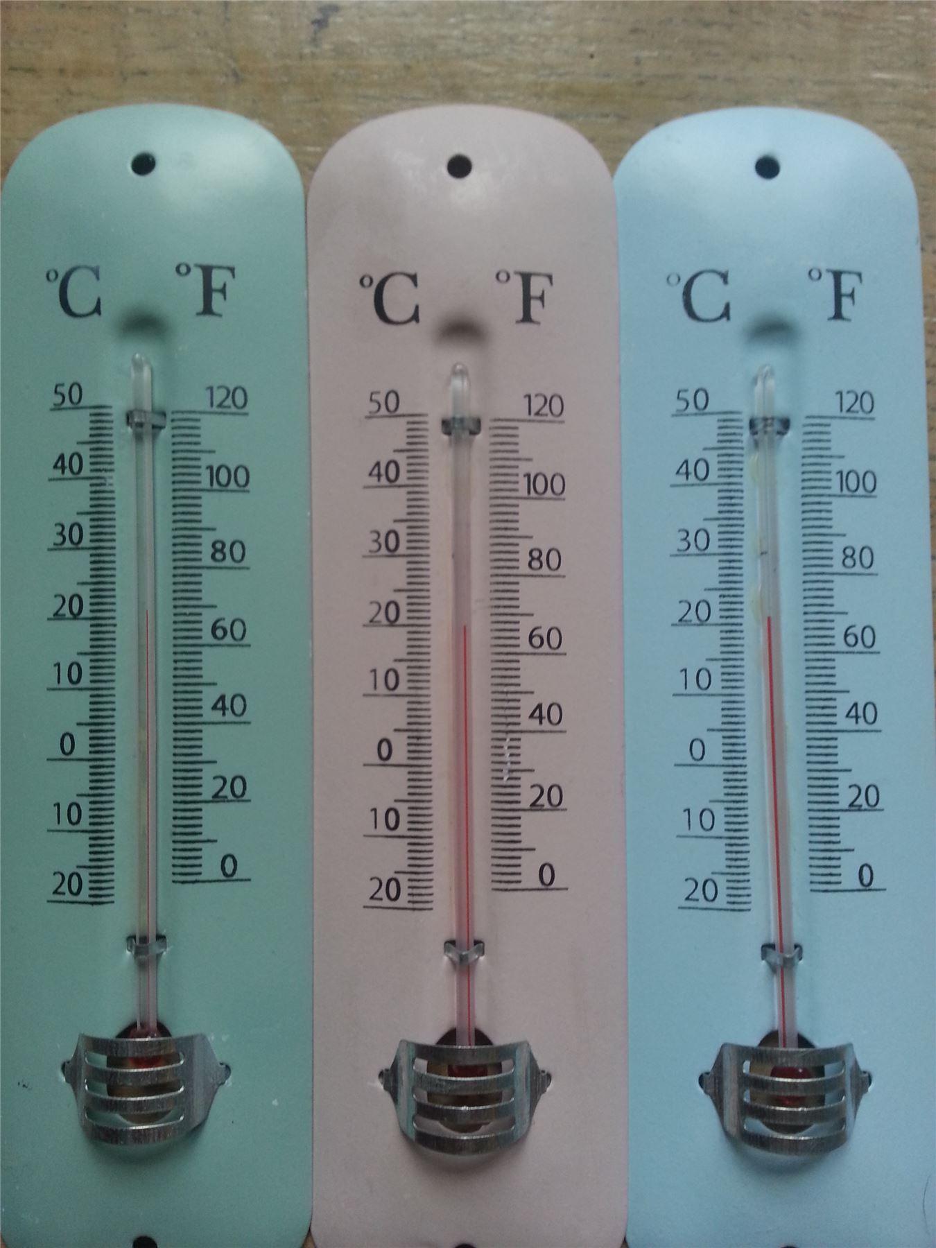 Pastel rétro métal thermomètre mural vintage cuisine/jardin ...
