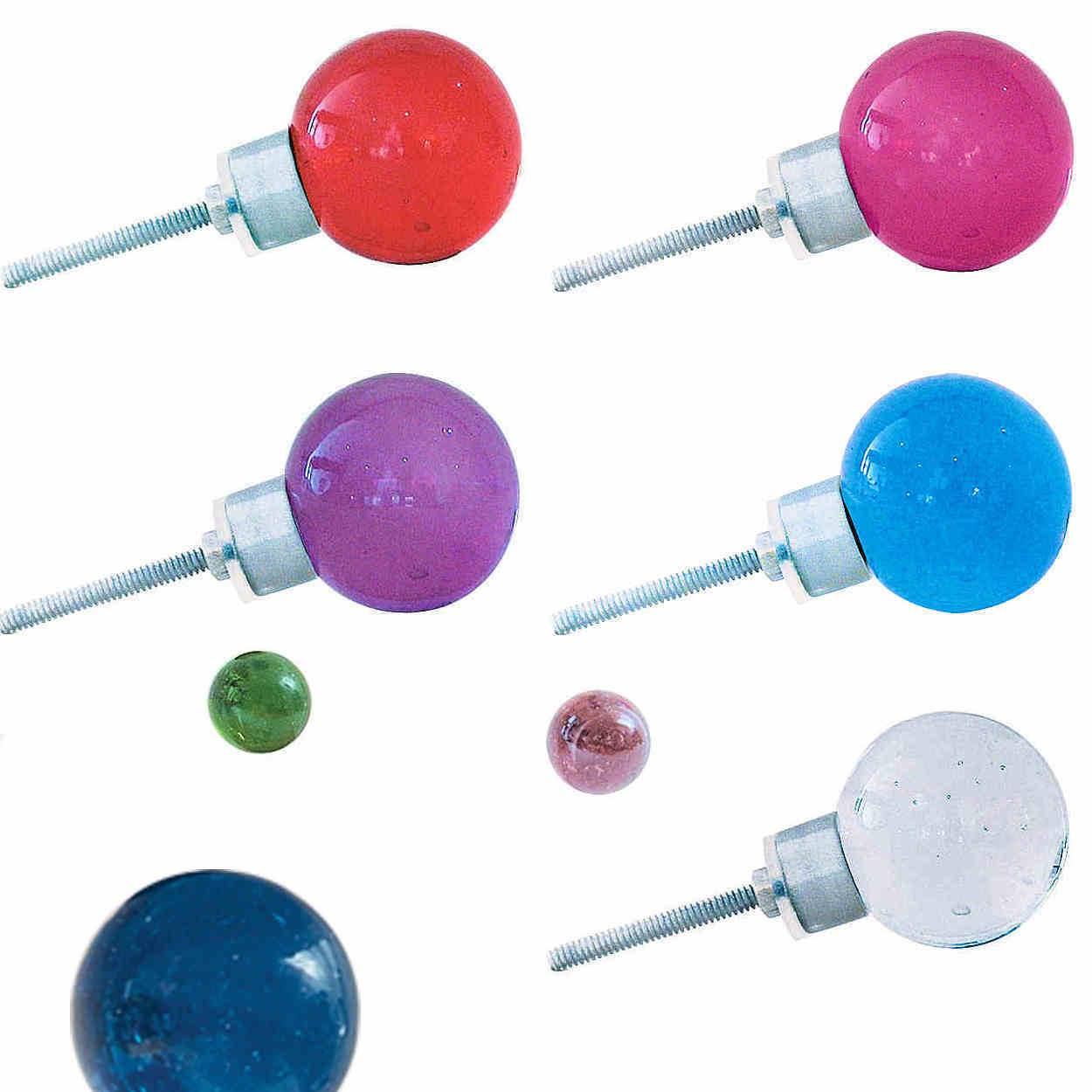 Colored glass door knobs - Bombay Duck Coloured Glass Door Knobs Round Sphere
