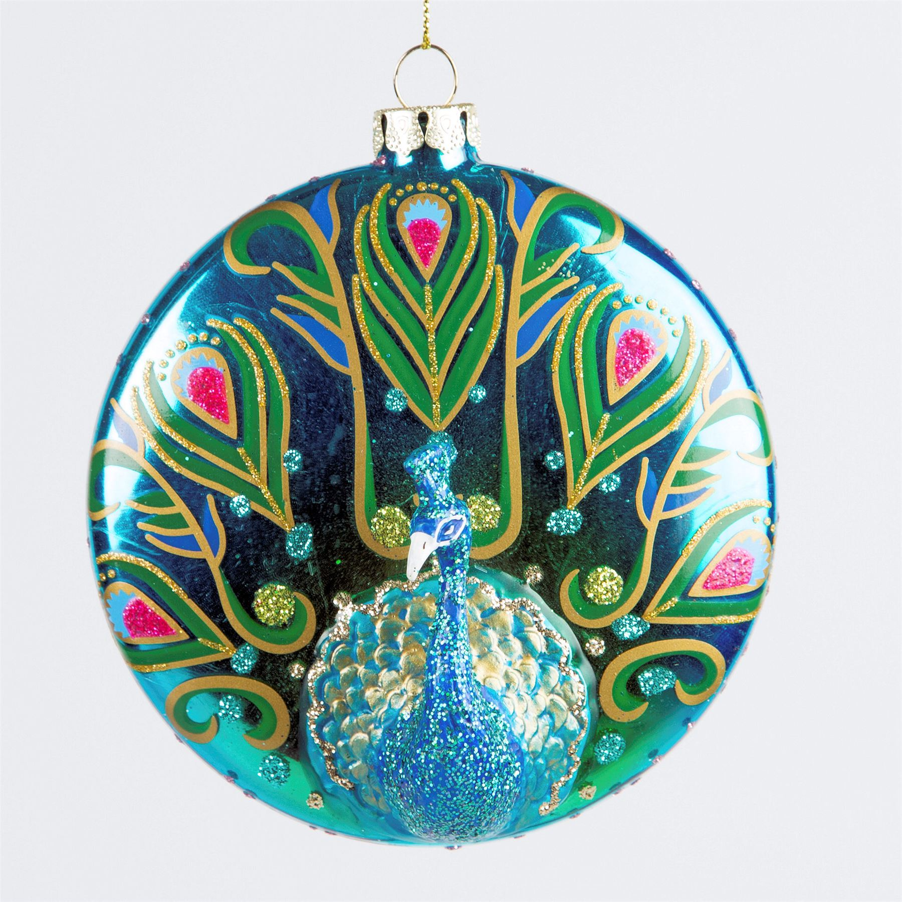 Luxury Glass Birds Christmas Hanging Tree Decorations