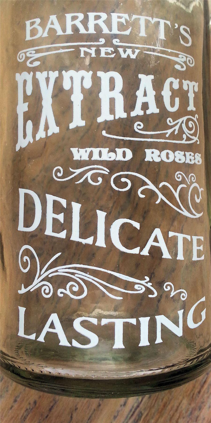 French vintage chic verre stockage bouteilles chambre for Accessoires de salle de bain shabby chic