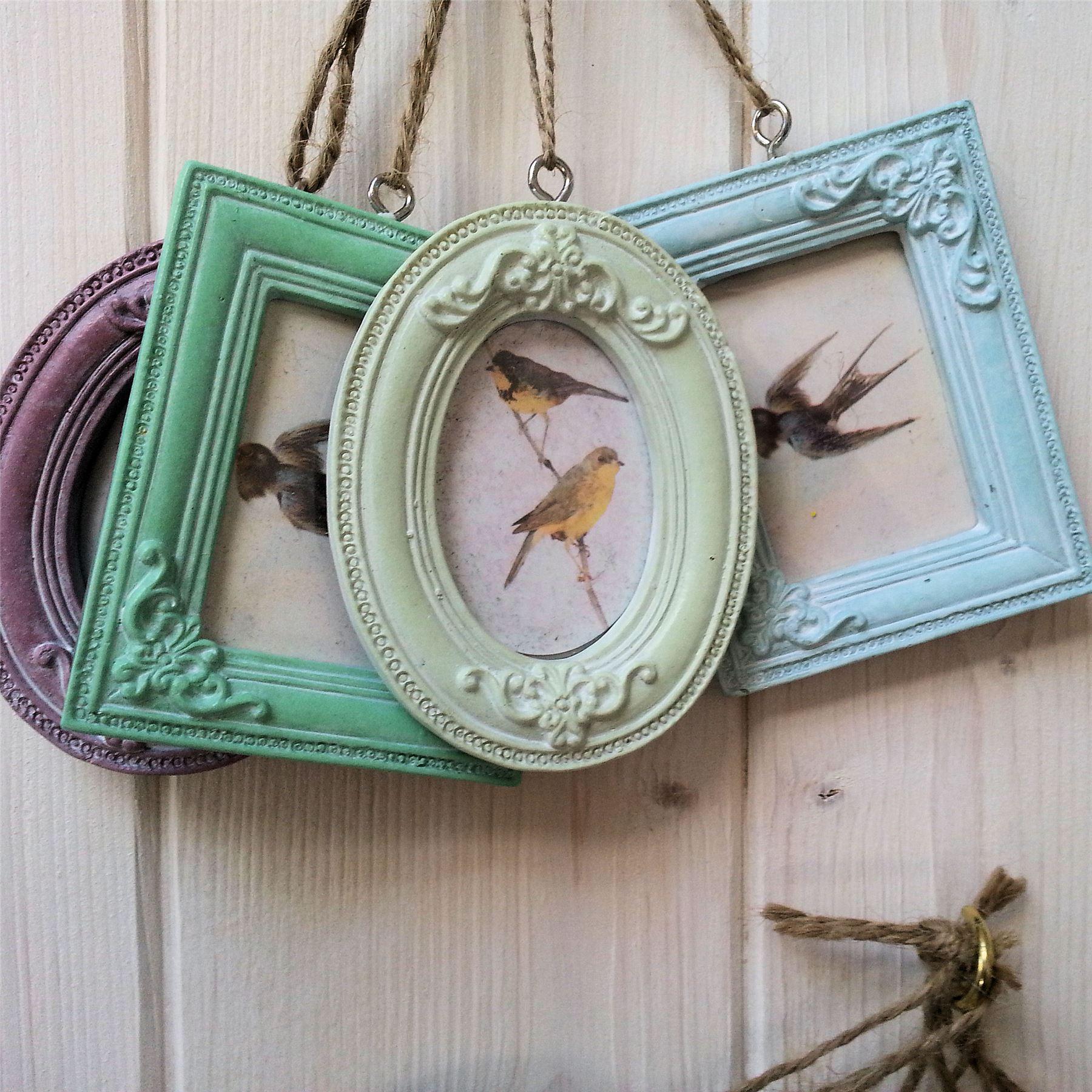 After: Handmade Photo Frame Pinterest Display, Hanging photos Mini hanging craft photo frames