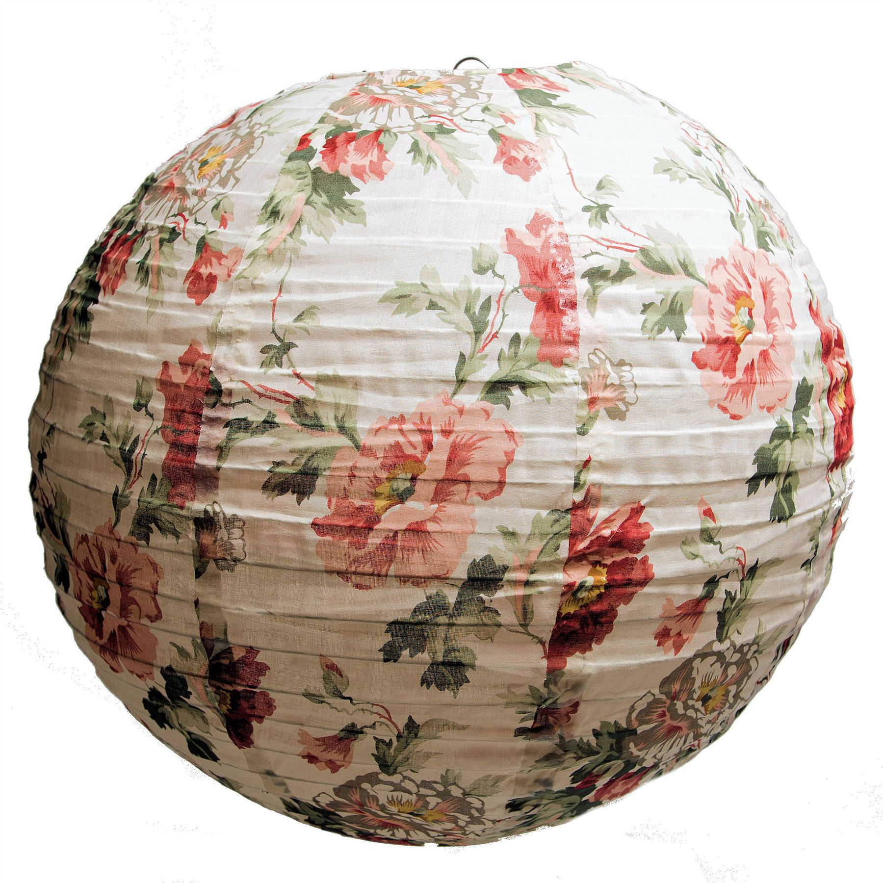 Ceiling Lamp Shade Materials: LARGE FABRIC LIGHT/LAMP SHADE FLORAL ROUND CEILING GLOBE