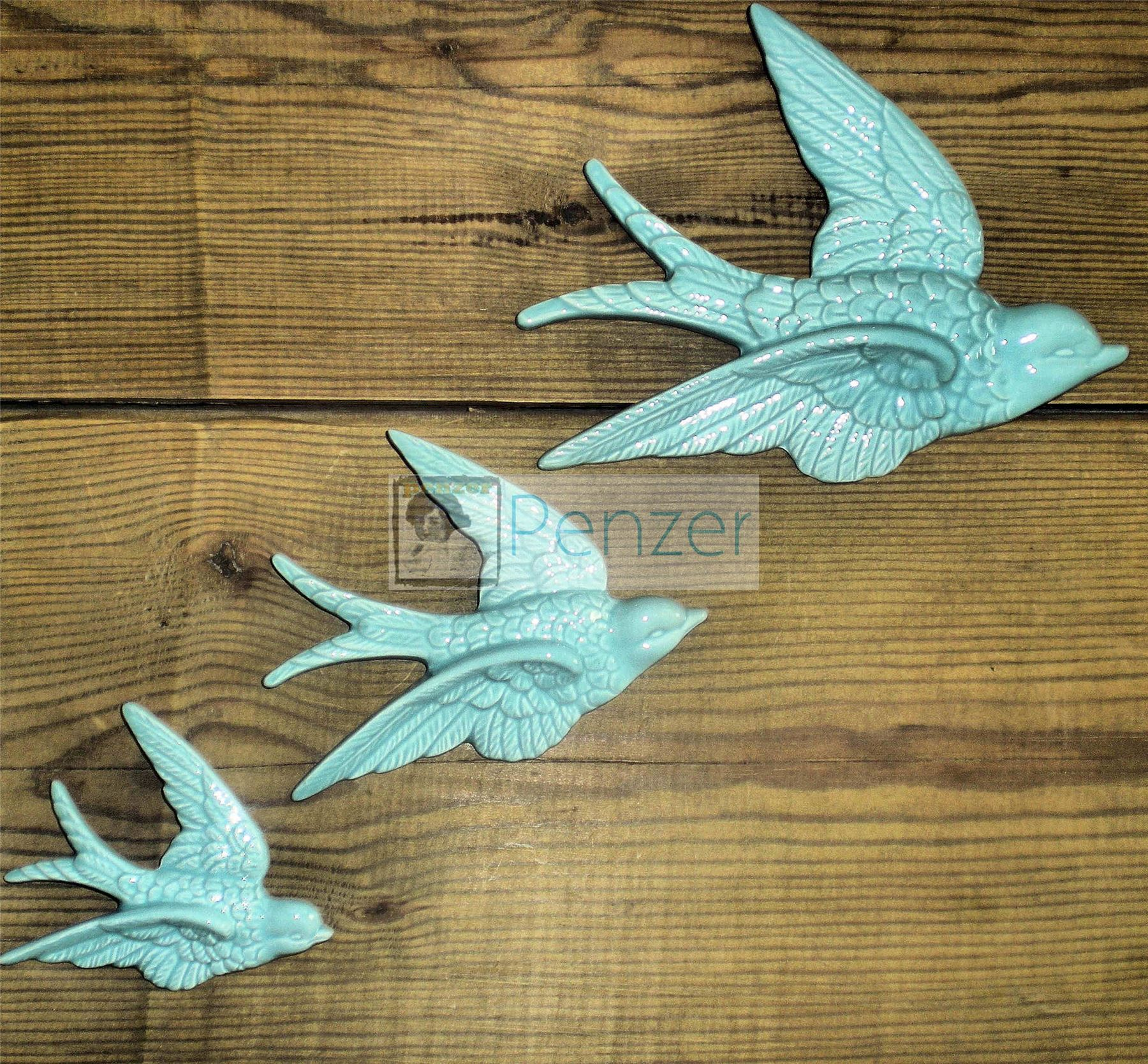 Retro 3 Flying Swallows Ducks Wall Hanging Decoration