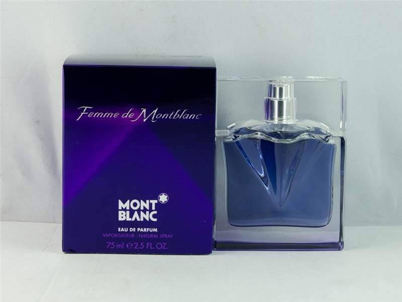 mont blanc femme de montblanc eau de parfum 75ml damaged box ebay. Black Bedroom Furniture Sets. Home Design Ideas