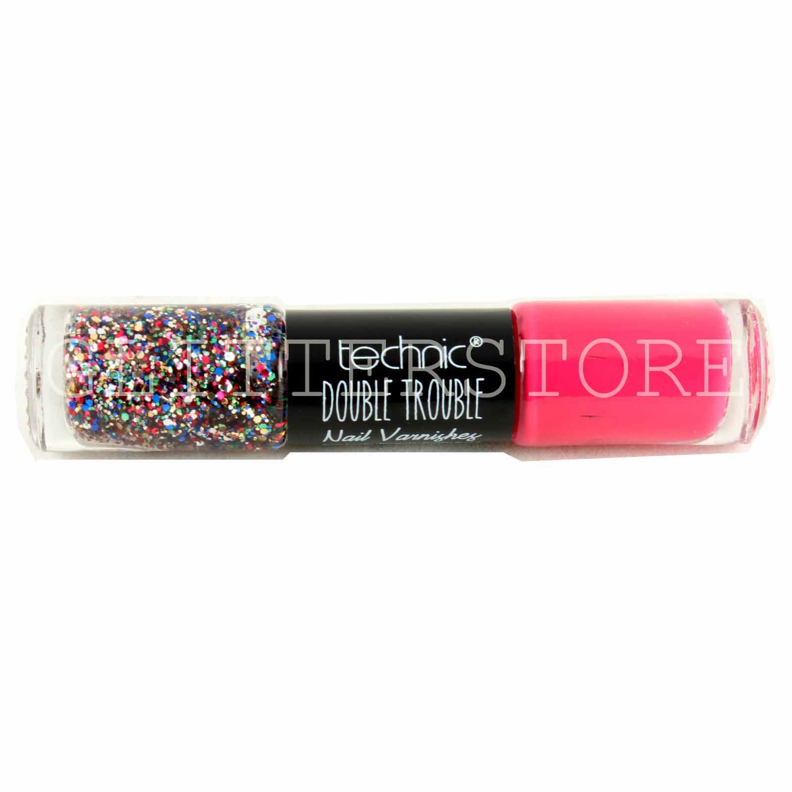 TECHNIC-DOUBLE-TROUBLE-NAIL-VARNISH-COLOUR-AND-GLITTER-POLISH