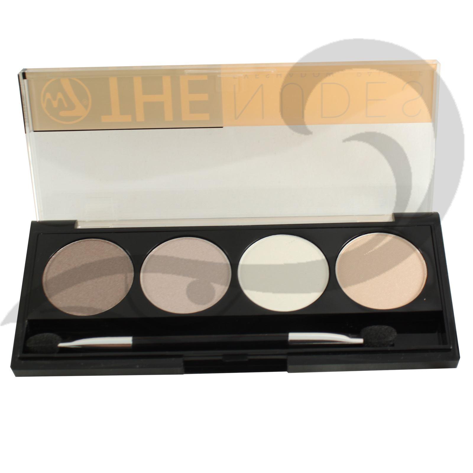 W7 sombra de ojos paleta latas desnudo colores de ojos for Paleta colores gris