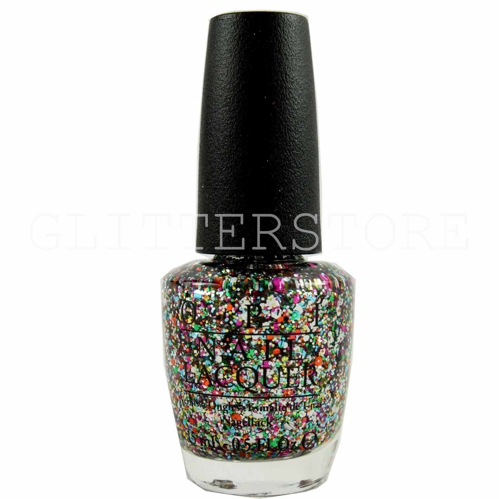 Shimmer And Sparkle Nail Polish: Opi Nail Varnish Spotlight On Glitter Collection Nail