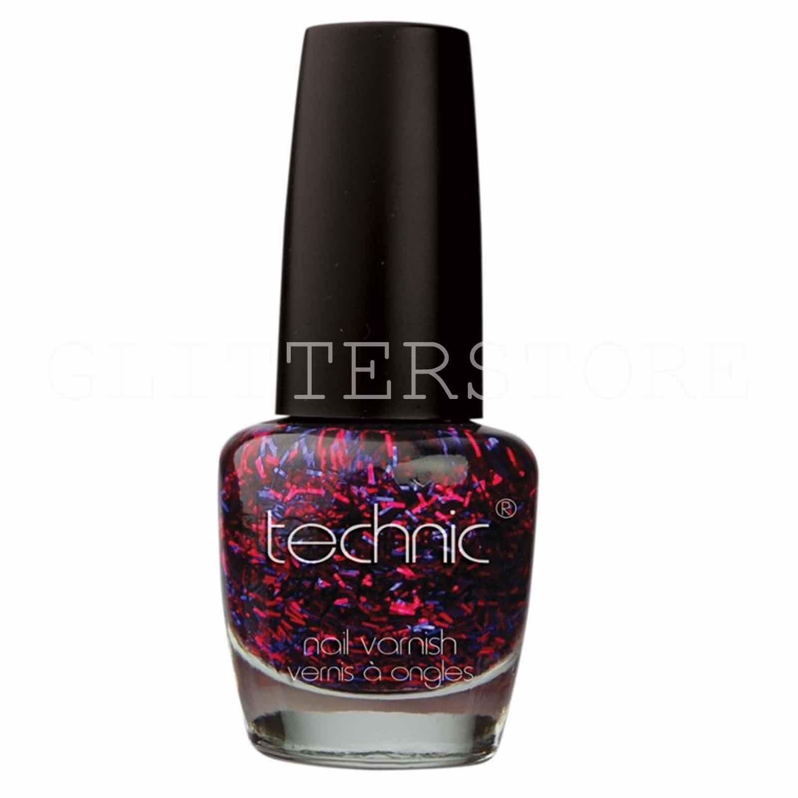 Technic Glitter Nail Varnish All Colour Glitter Chunky