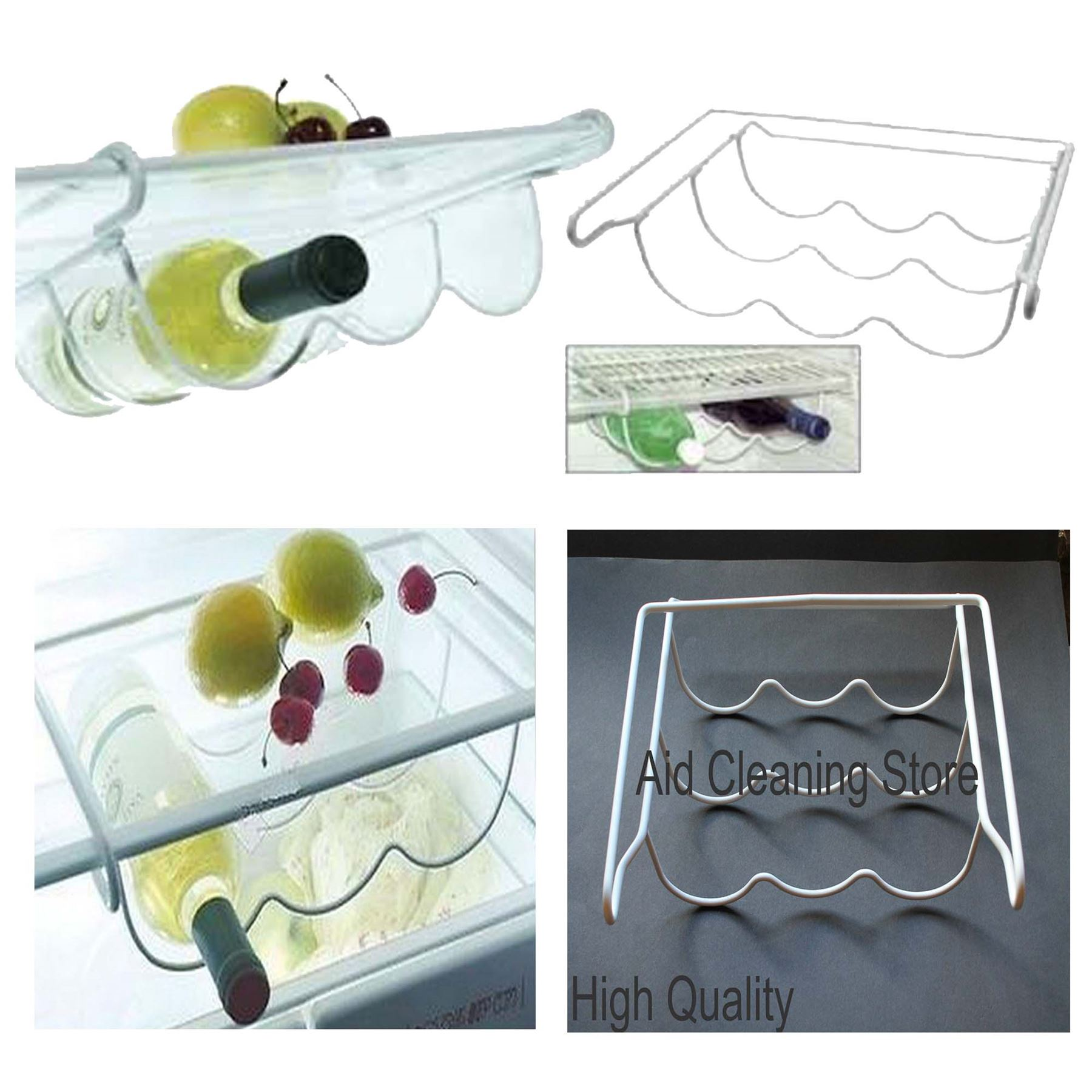 Chrome Universal Fridge Freezer Tidy Rack Wine Rack Drinks