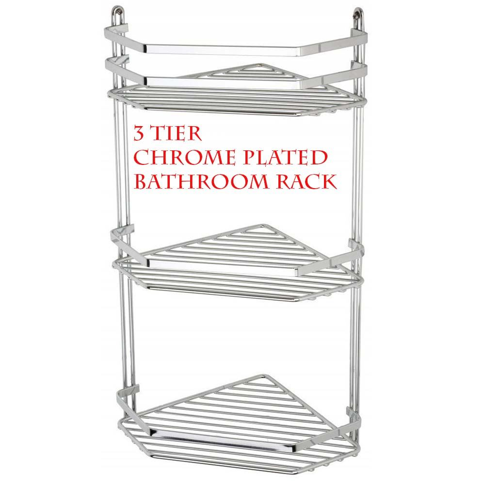Simple  TIER BAR CHROME TOWEL RAIL AIRER BATHROOM STORAGE RACK HOLDER  EBay
