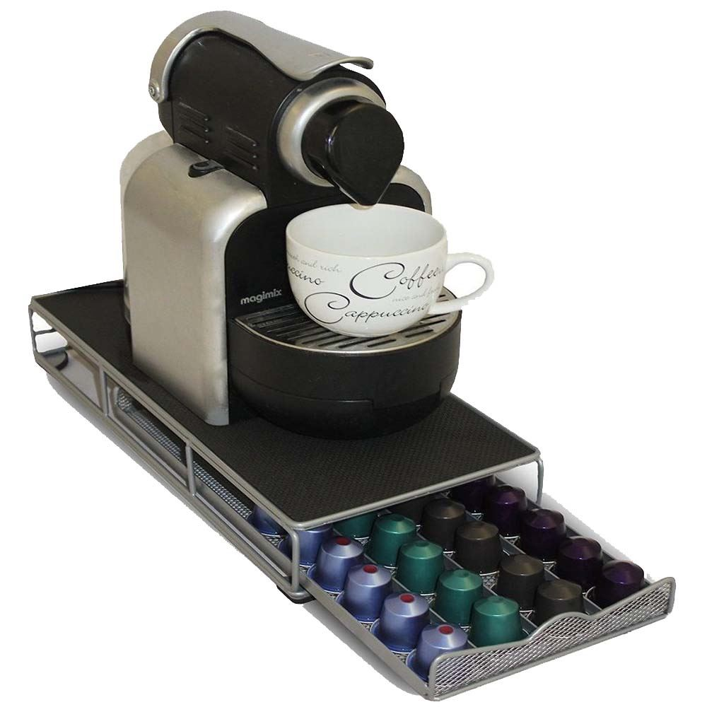 48 pod nespresso coffee capsule holder storage dispenser. Black Bedroom Furniture Sets. Home Design Ideas