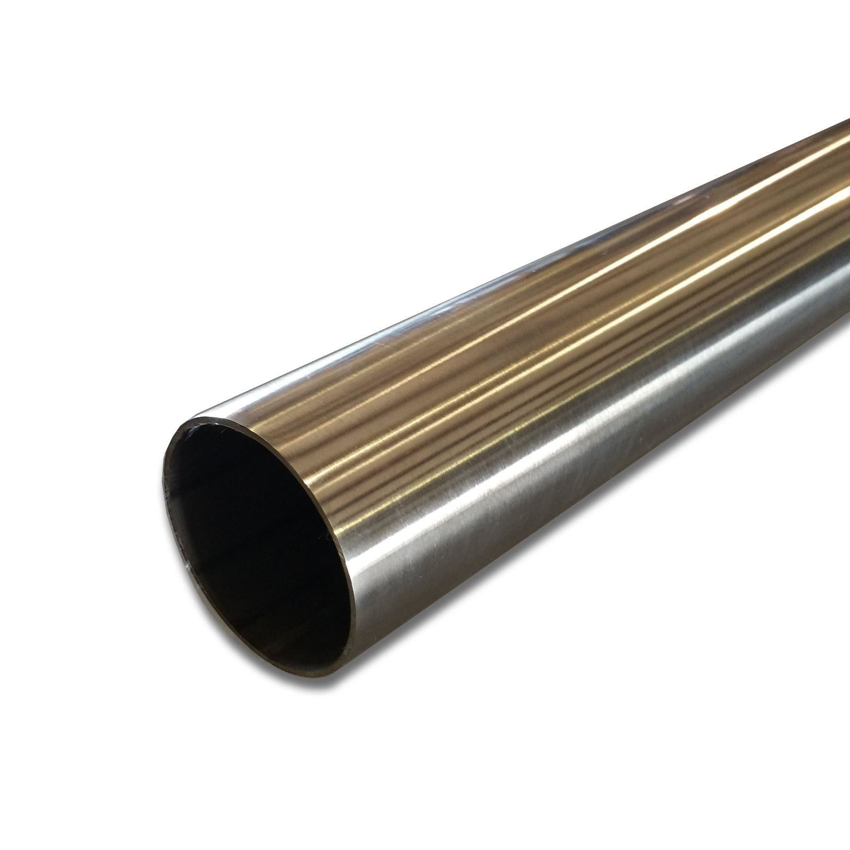 Polished stainless steel round tube quot od w