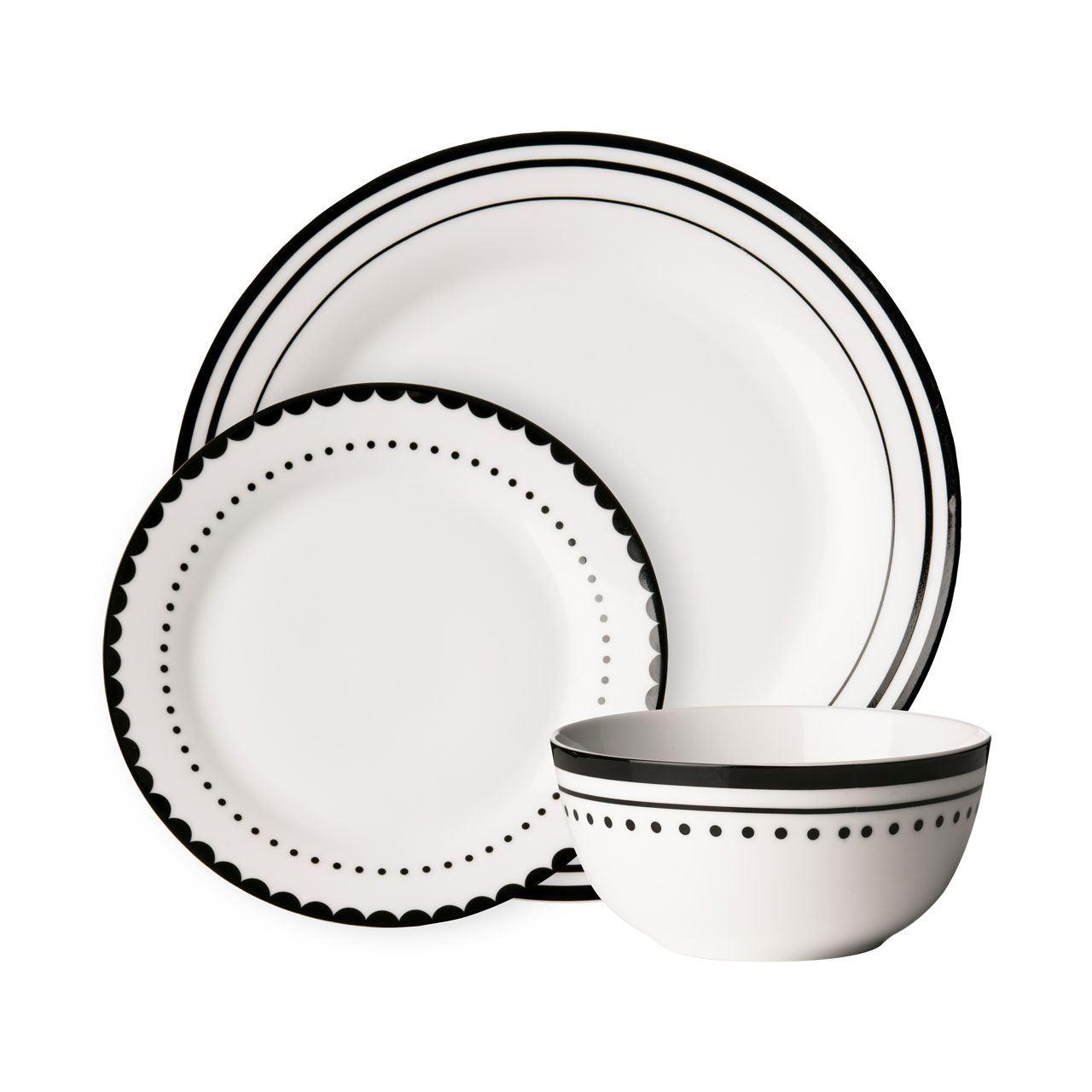 12pc-Dinner-Set-Porcelain-Dining-Tableware-Set-Various-  sc 1 st  eBay & 12pc Dinner Set - Porcelain Dining Tableware Set (Various Designs ...
