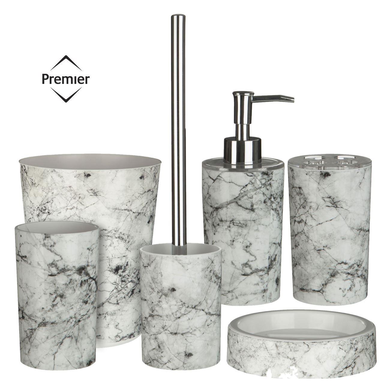 6pc rome bathroom set toilet brush tumbler soap for Bathroom tumbler sets