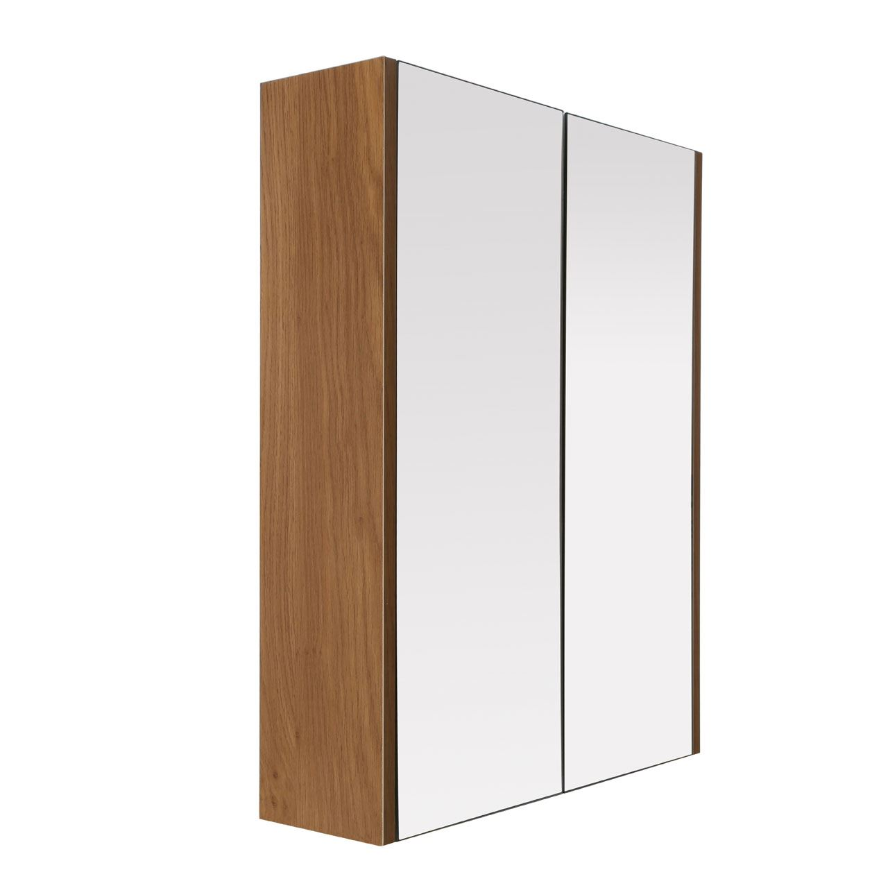 Oak Effect Kitchen Cabinets: Premier Housewares Wall Cabinet, 2 Door, Oak Effect/Mirror