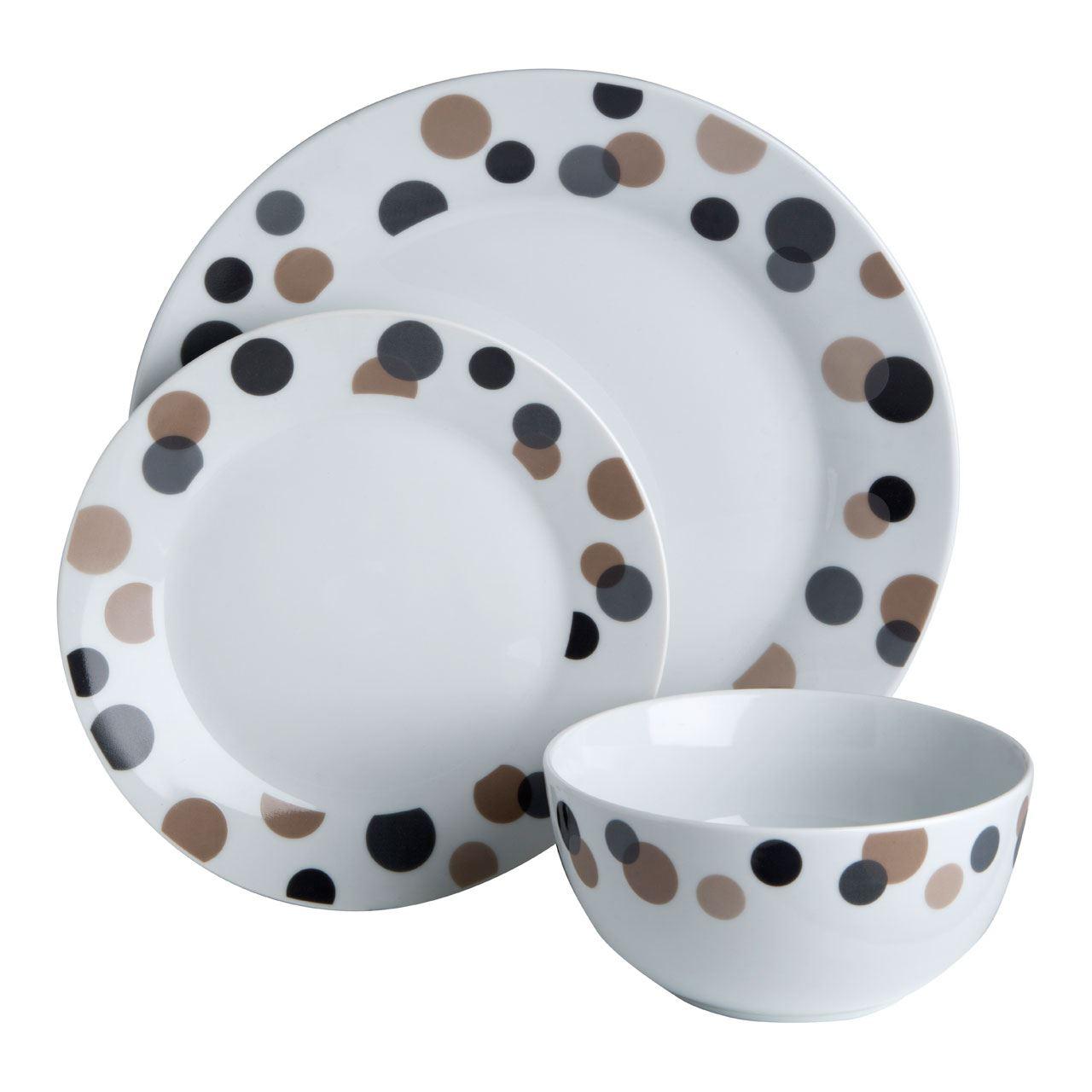 12 24 pcs dinner set porcelain kitchen serving plates for Kitchen set plates