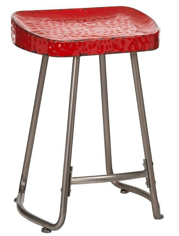 Artisan Stool Kitchen Breakfast Bar Stool In Red