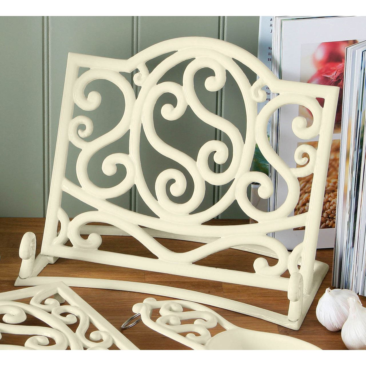 cookbook stand recipe book holder cast iron ideal for your kitchen - Recipe Book Holder