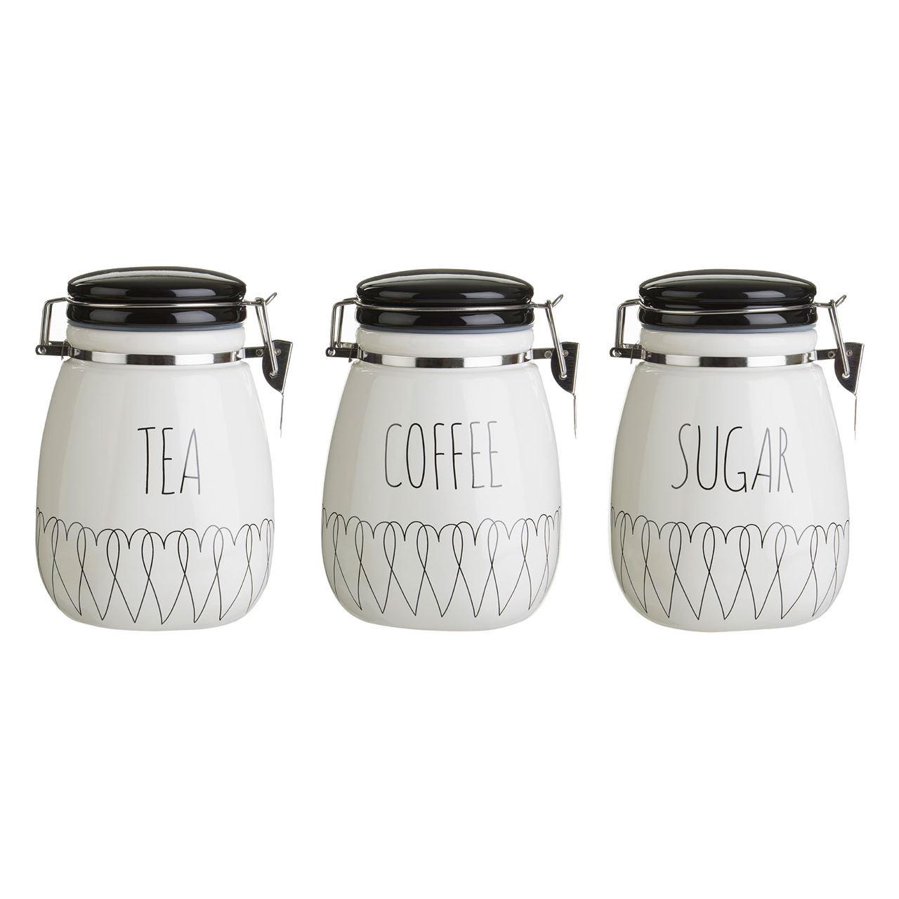 tea coffee sugar canisters heartlines tea coffee sugar canisters kitchen storage jars