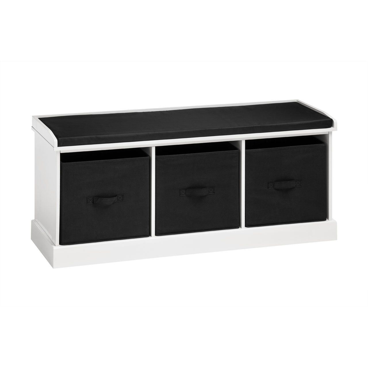 Storage Bench Seat With 3 Box Drawers White Black For Your Home Ebay