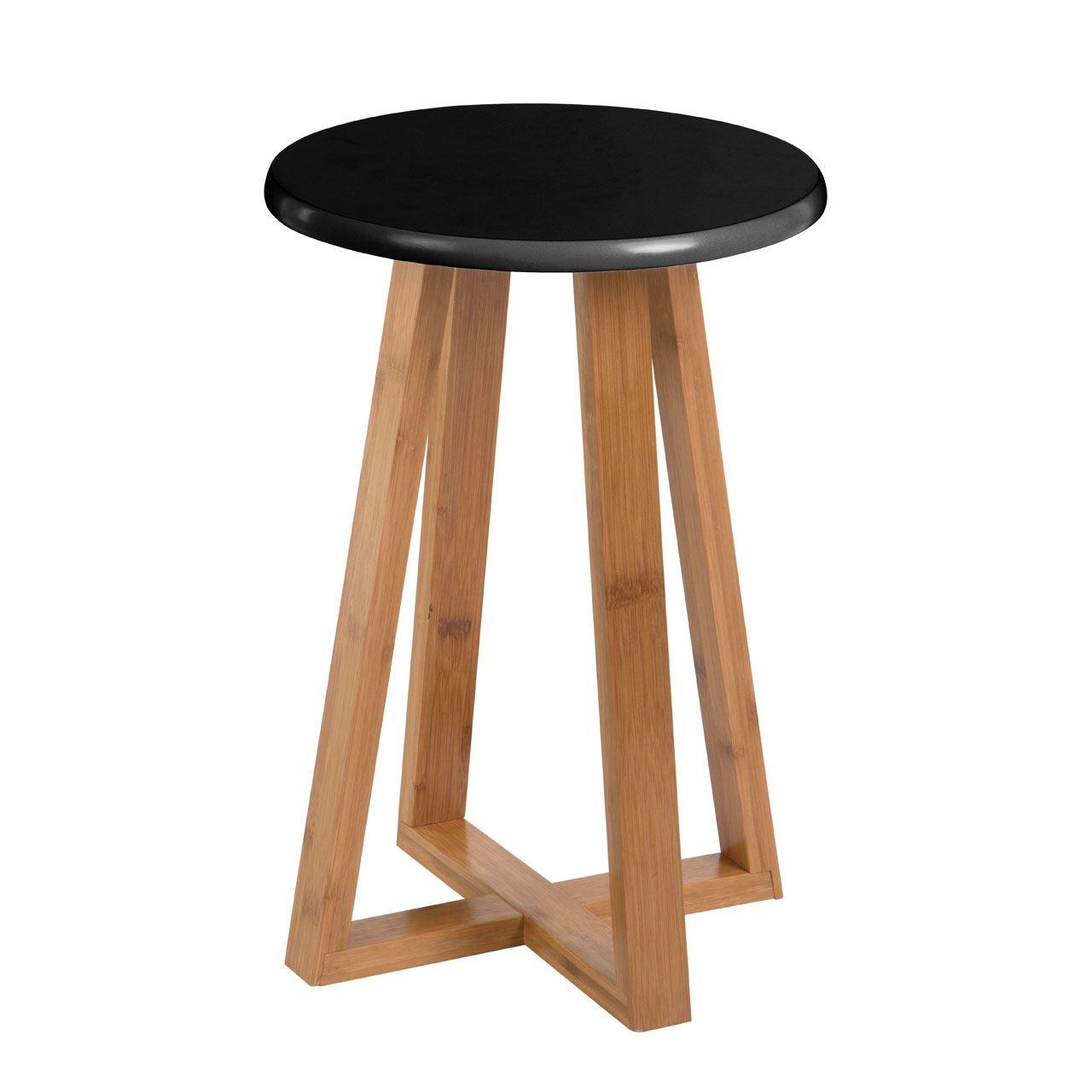 Viborg Round Stool Bamboo Wood Base Legs Breakfast Bar