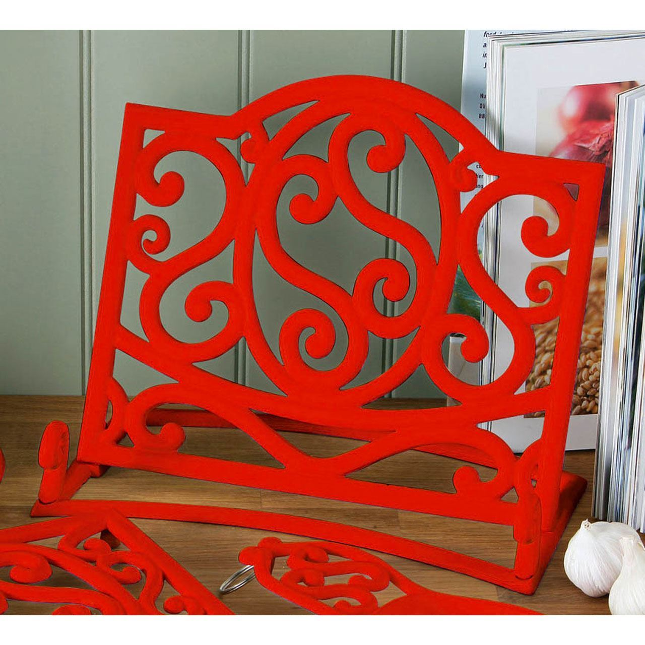 Cookbook Stand Recipe Book Holder Cast Iron Ideal For Your