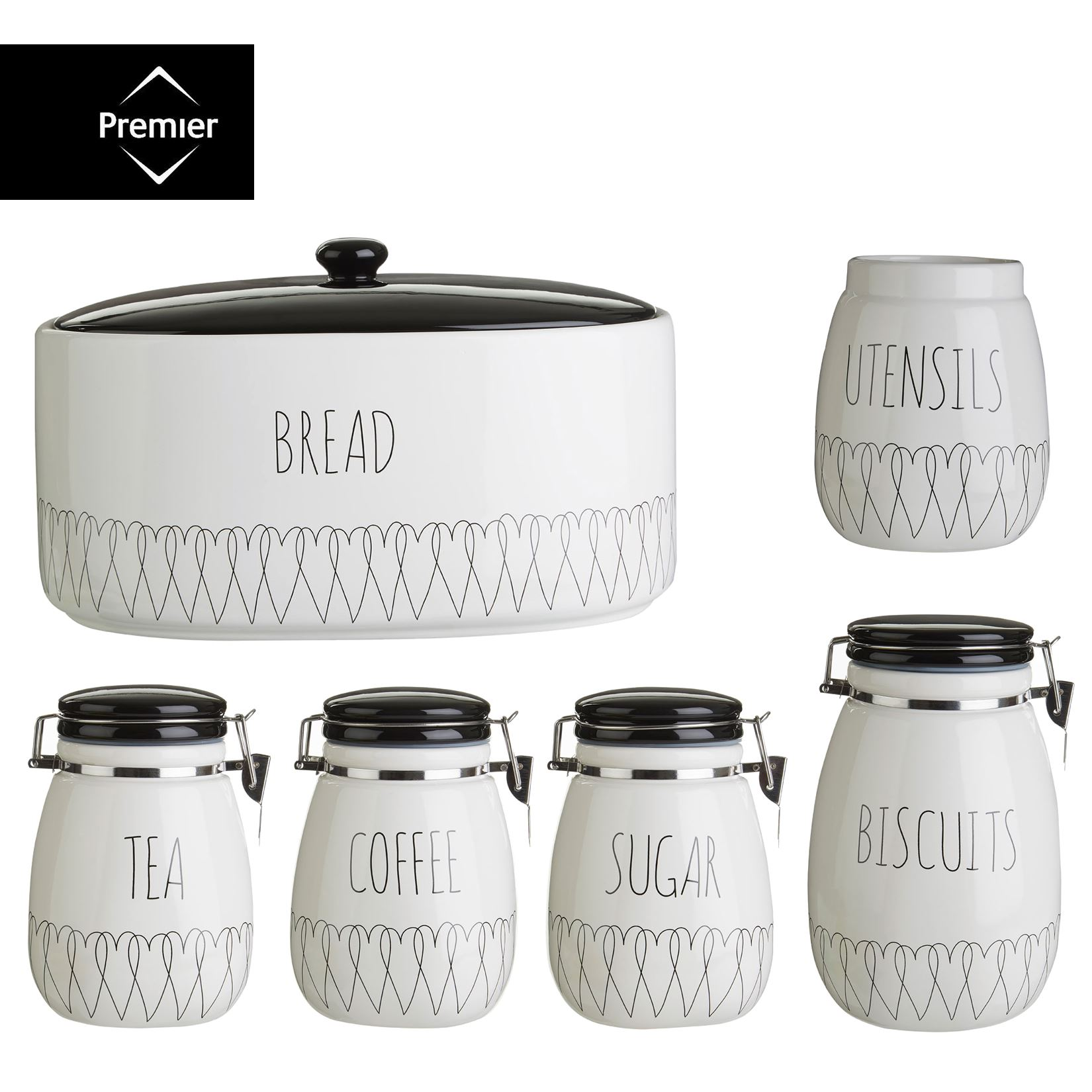 Retro Kitchen Canisters Tea Coffee Canister Coffetable