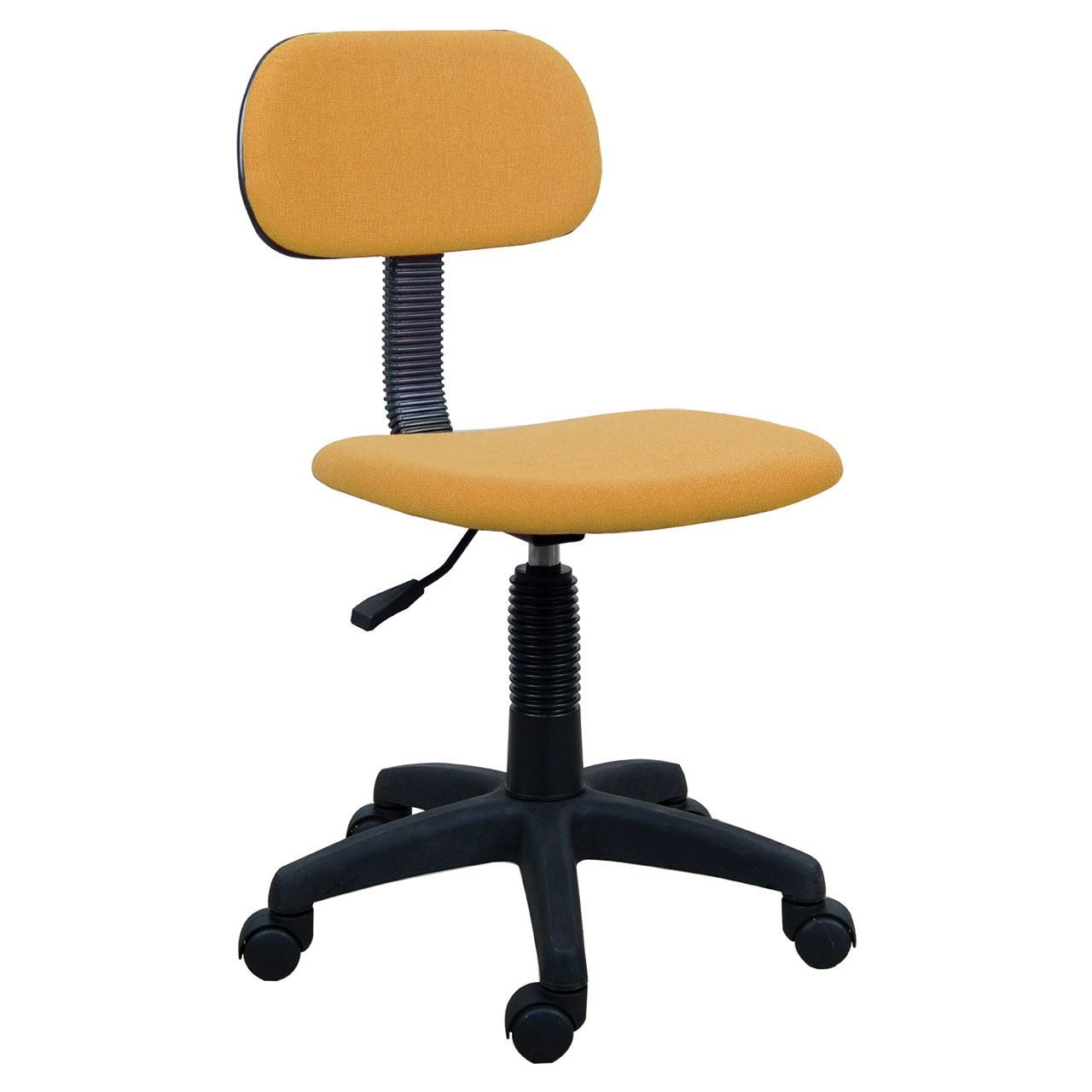 Swivel Fabric Office Chair With Wheels Adjustable Height Yellow EBay