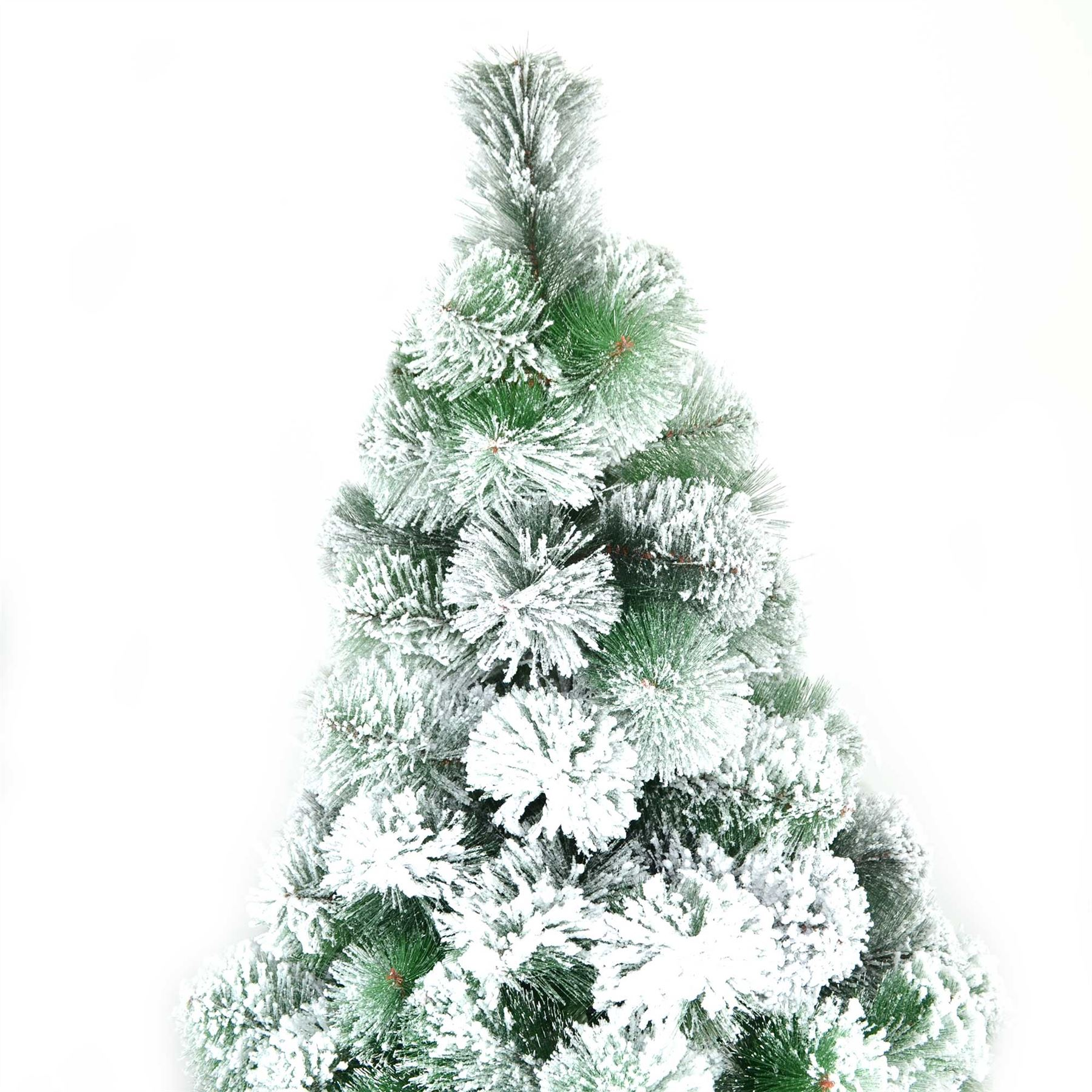 5ft 150cn Artificial Christmas Tree Snow Covered Pine Tips ...
