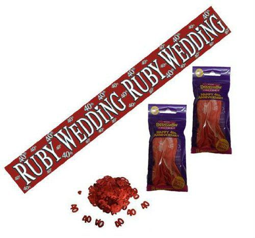 40th ruby wedding anniversary party decorations pack for 40th birthday decoration packs