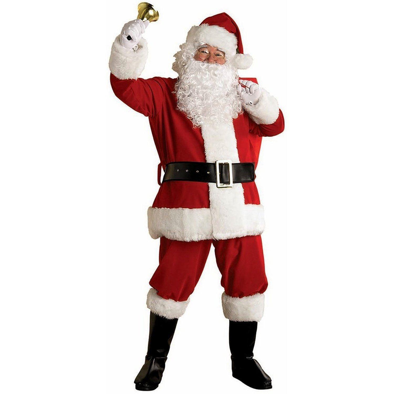 Deluxe regal plush piece santa suit father christmas