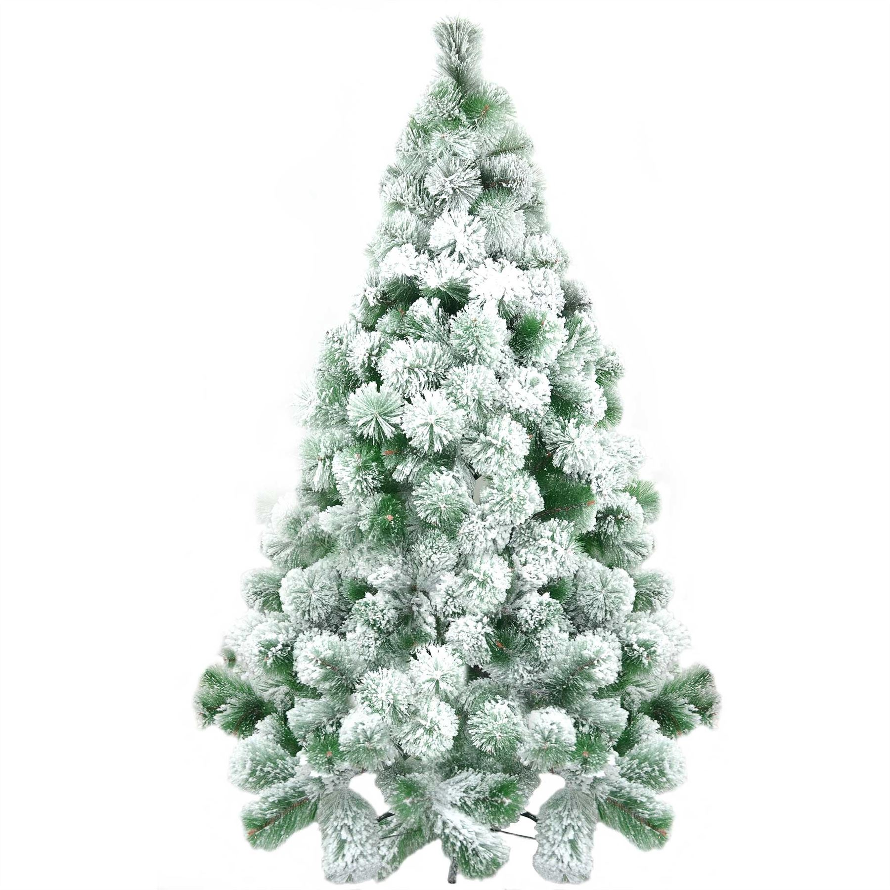 Ft cn artificial christmas tree snow covered pine tips
