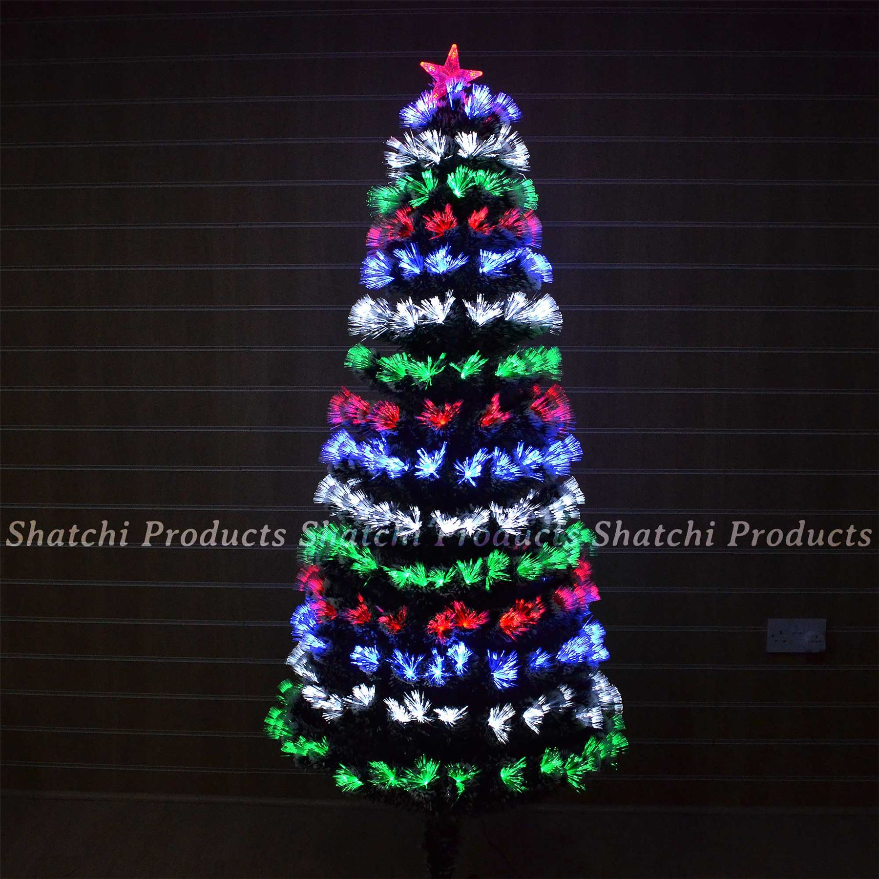 3ft Christmas Trees Artificial: LED Fibre Optic Christmas Tree Pre Lit Xmas Tree 2ft, 3ft