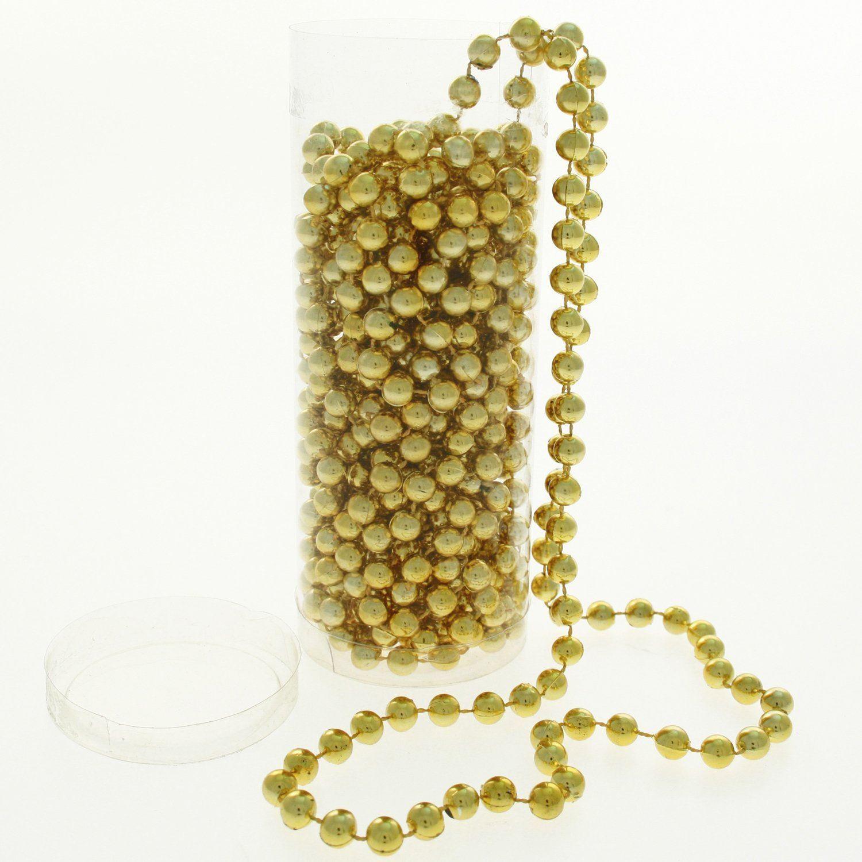 22f gold hanging bead garland tree tinsel