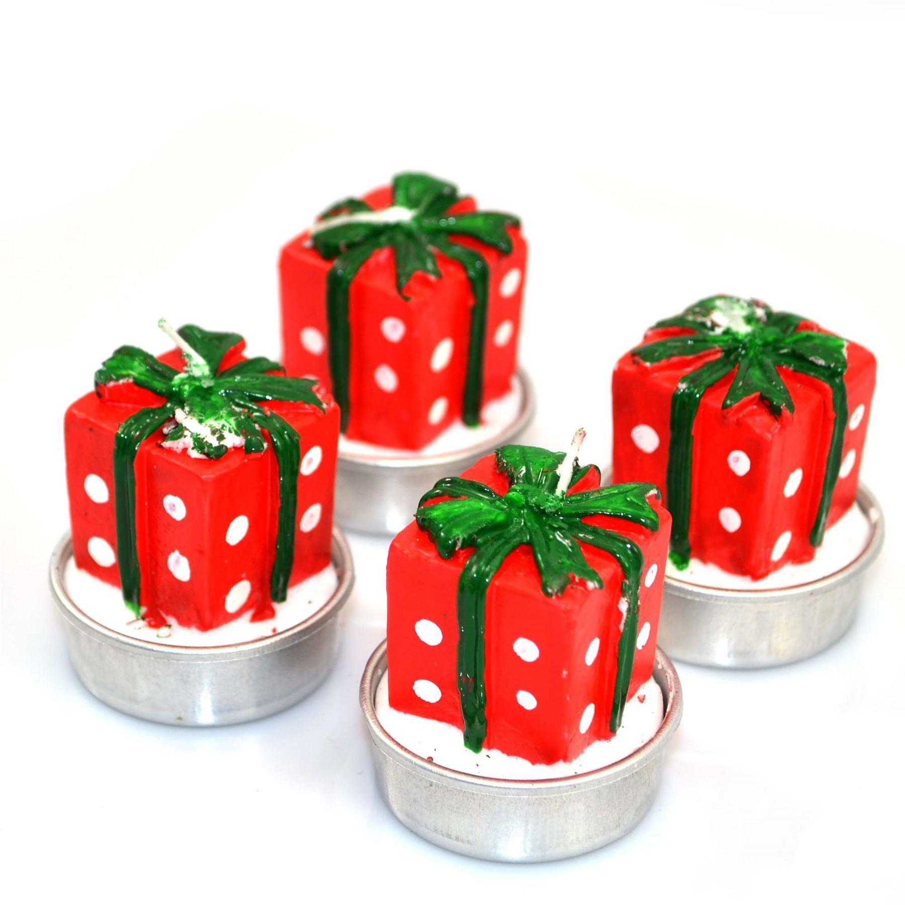 Christmas Decorative Novelty Candles Natural 4 Candle Set