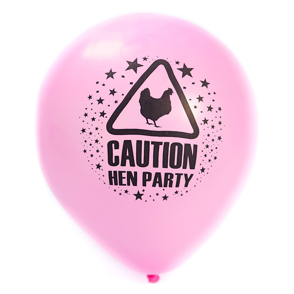 "15 Pcs 11"" Hen Party Pink Balloons Hen Party Decorations"