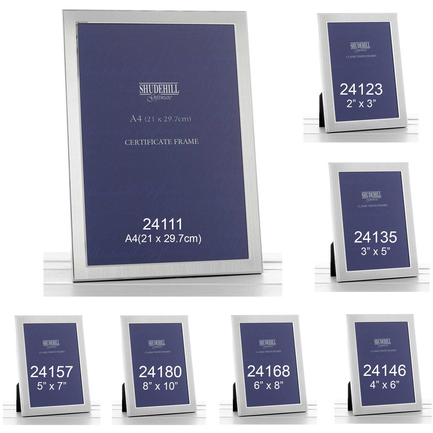 silver classic plain photo picture frame christmas present xmas gifts