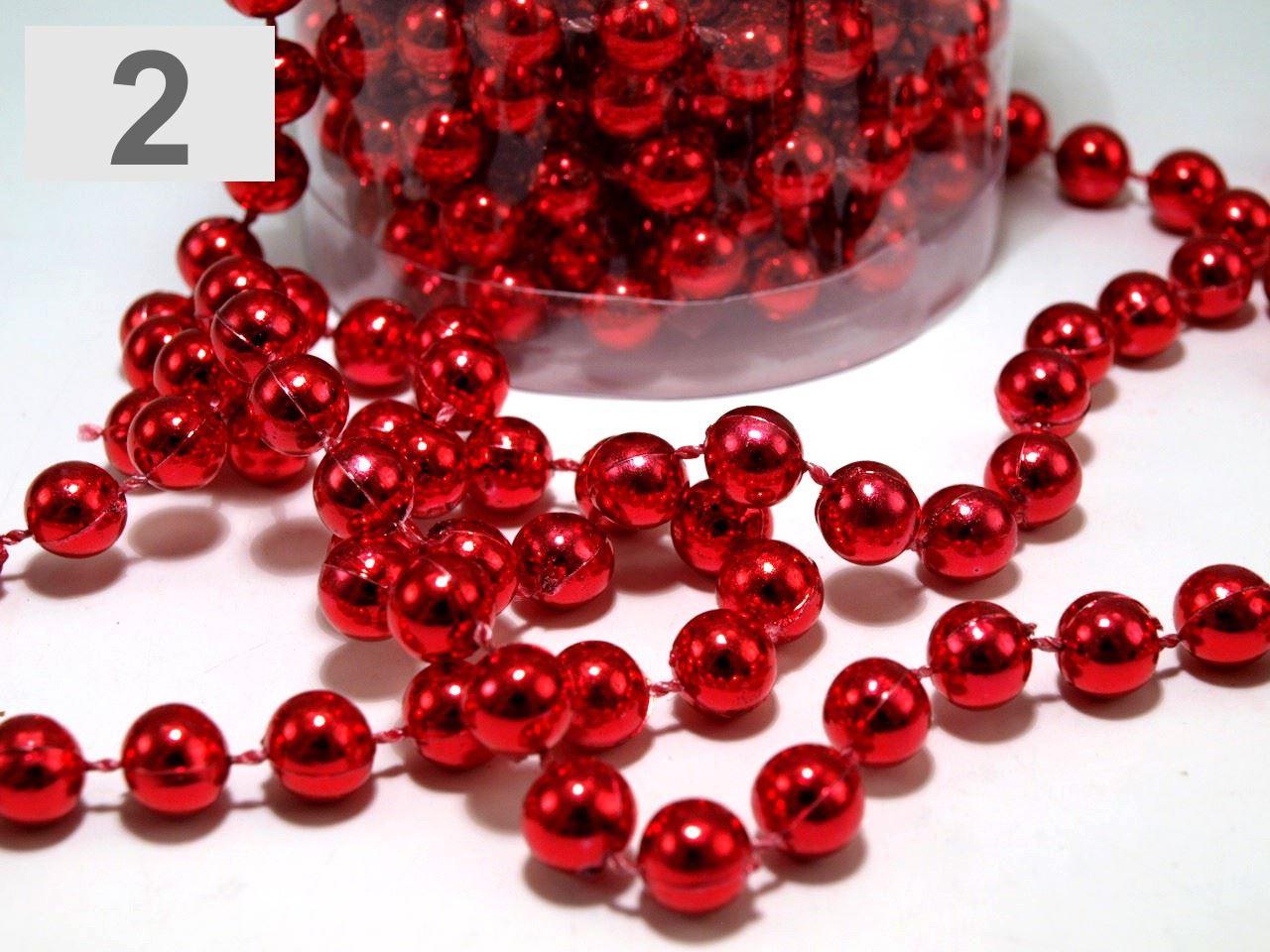Decorating Ideas > 24FT RED HANGING BEAD GARLAND CHRISTMAS TREE XMAS TINSEL  ~ 040711_Christmas Decoration Ideas Beads