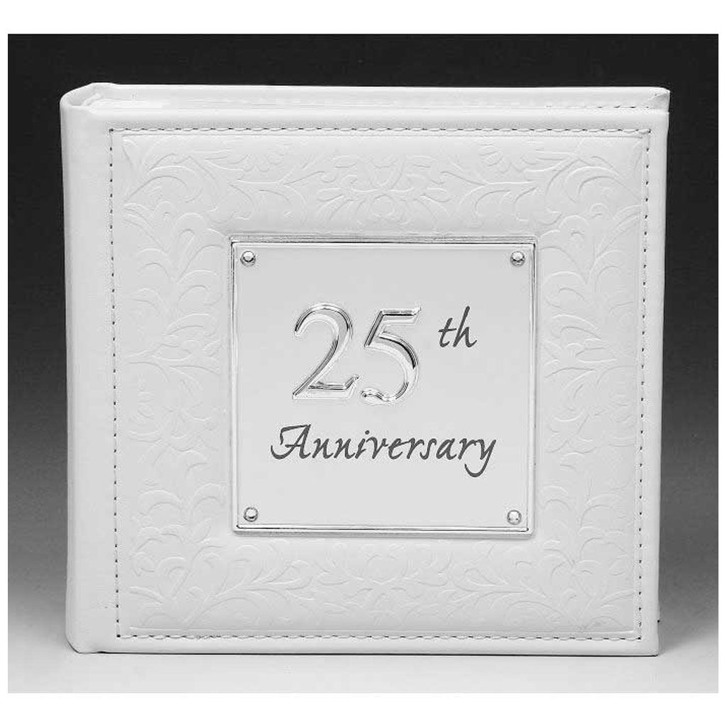 "Online Wedding Anniversary Gifts: 25th Silver Wedding Anniversary Gift Photo Album 80 6""x4"