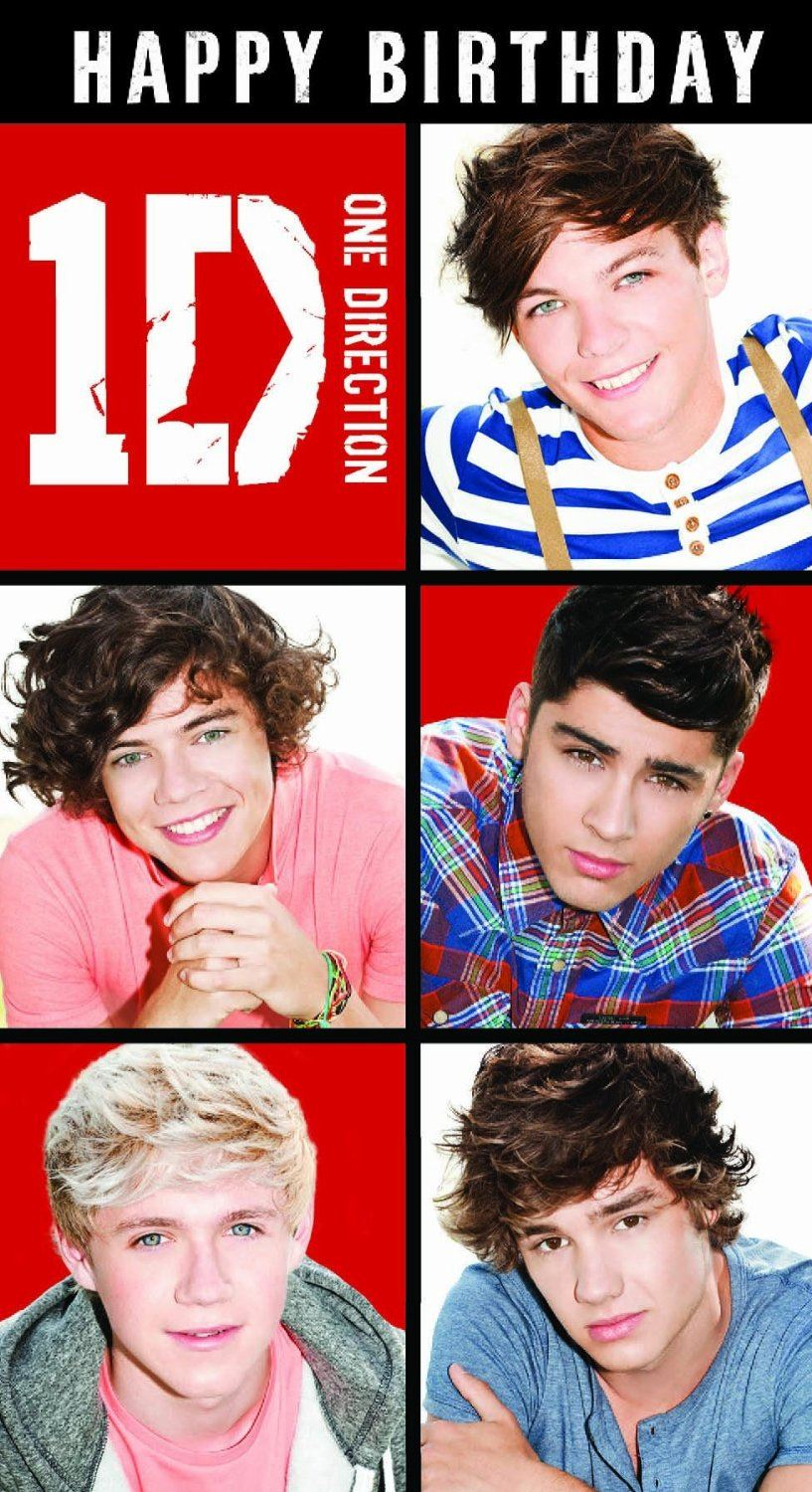One Direction Age 10 Birthday Greeting Card – One Direction Birthday Greeting