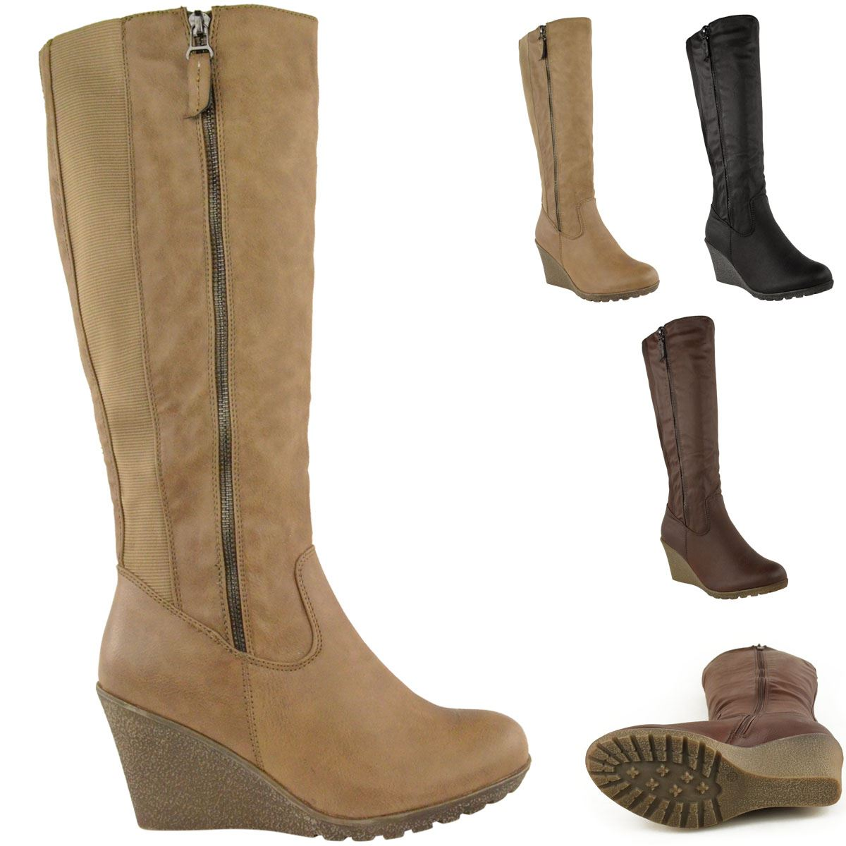 Ladies Wedge Heel Boots