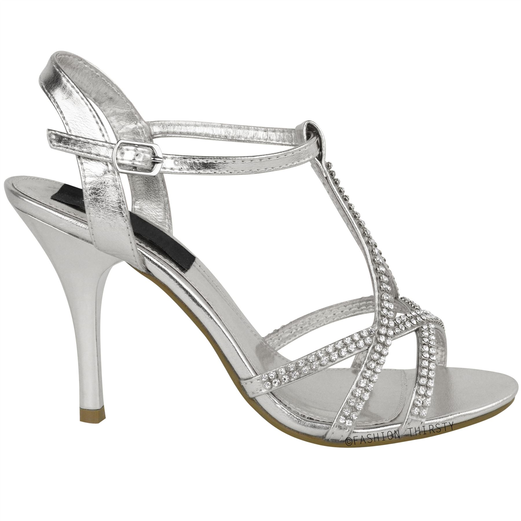 damen sandaletten mit high heels riemchen festlich elegant ebay. Black Bedroom Furniture Sets. Home Design Ideas
